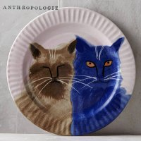 【Anthropologie】The Farm Dessert Plate  cat ねこプレート