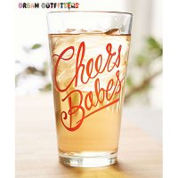 【Urban Outfitters】  Pint Glass  パイントグラス Cheers
