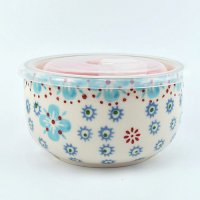 【Urban Outfitters】 Ceramic Food Storage Bowl  セラミックフタ付き保存容器 ライトブルー