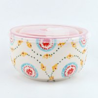 【Urban Outfitters】 Ceramic Food Storage Bowl  セラミックフタ付き保存容器 レッド