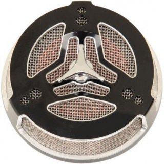 シロ TRI-BAR エアクリーナー ブラック 08-17ツインカムの電子スロットルモデル 1010-1868