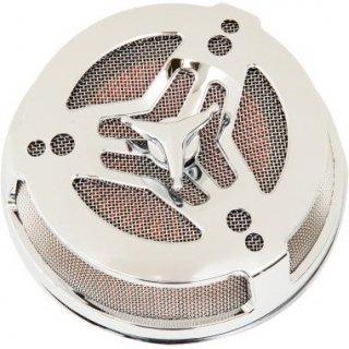 シロ TRI-BAR エアクリーナー クローム 08-17ツインカムの電子スロットルモデル 1010-1869
