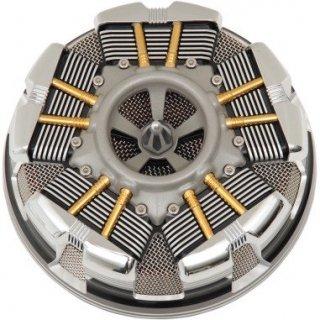 シロ RADIAL エアクリーナー ブラック 08-17ツインカムの電子スロットルモデル 1010-1875