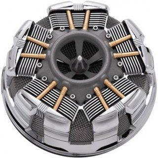 シロ RADIAL エアクリーナー クローム 08-17ツインカムの電子スロットルモデル 1010-1876