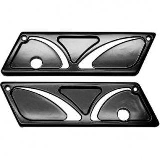 カールブローハード サドルバッグ ラッチカバー Spiro シリーズ ブラック 93-13 ツーリング 3501-1191