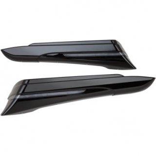 シロ サドルバッグエクステンション ブラック 2014-20 FLHT/ FLHR/ FLHX/ FLTRX 3501-1113