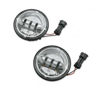 ハーレー純正 デイメーカー プロジェクター LED補助ランプ 4インチ クローム FLソフテイル/ツーリング 68000172