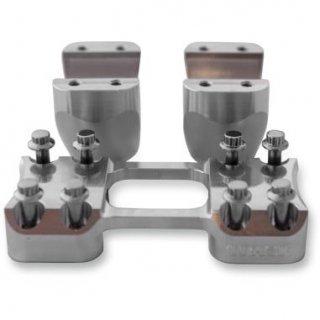 トラスクパフォーマンス ASSAULT ライザーとクランプ 2インチライズ アルミ無垢 1.25インチ径ハンドル用 0602-0872