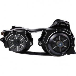 BDL 2インチオープンプライマリーキット 2ピースモータープレート 14-16ツーリングモデル 油圧クラッチ車 ブラック 1120-0357