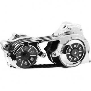BDL 2インチオープンプライマリーキット 2ピースモータープレート 14-16ツーリングモデル 油圧クラッチ車 クローム 1120-0358