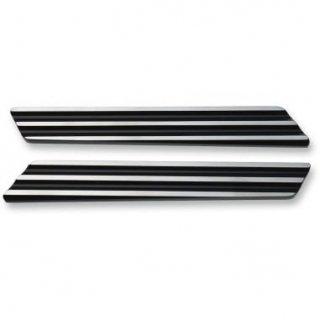 ジョーカーマシン サドルバッグ ヒンジインサート Finned ブラック/シルバー 2014-20 ツーリング 3501-1252