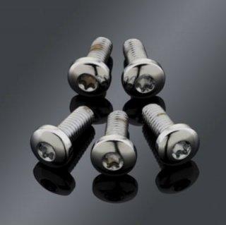 パフォーマンスマシン フロントブレーキローター用 ボタンヘッドボルトセット クローム 1984以降 5本入り 0109-0012-CH