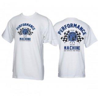パフォーマンスマシン レーシング T-シャツ ホワイト 0049-2472