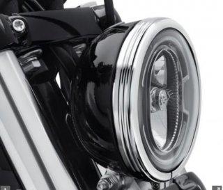 ハーレー純正 DEFIANCEディファイアンス ヘッドライトトリムリング 5 3/4インチ クローム 2018-19 FXBB/FXLR 61400429
