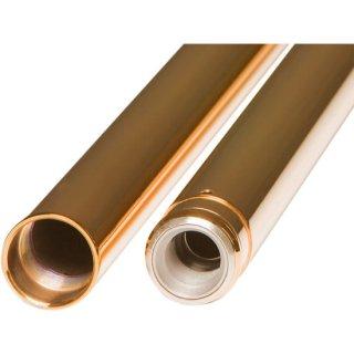 カスタムサイクルエンジニアリング 49mmフォークチューブ ゴールド 25.50インチ OEM46605-06 2006-17FXD-FXDWG用 0404-0338