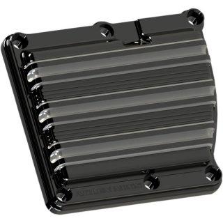 アレンネス 10-GAUGE トランスミッショントップカバー ブラック/マシンカット ミルウォーキー ツーリング用 03-863