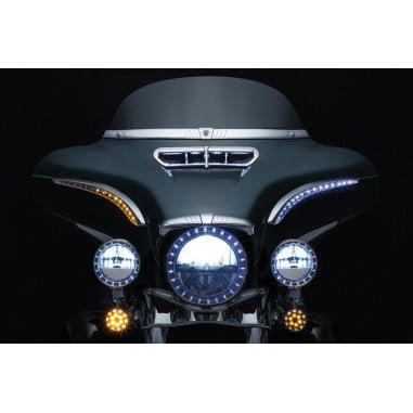 クリアキン シーケンシャル ランターン LED バットラッシュ クローム 2014-19 FLHT/K, FLHX 7131