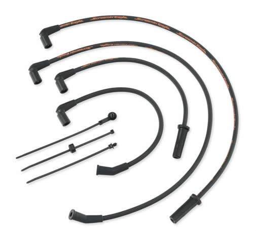 スクリーミンイーグル 10mm スパーク プラグ ワイヤー ブラック 17-19 ツーリング 31600108