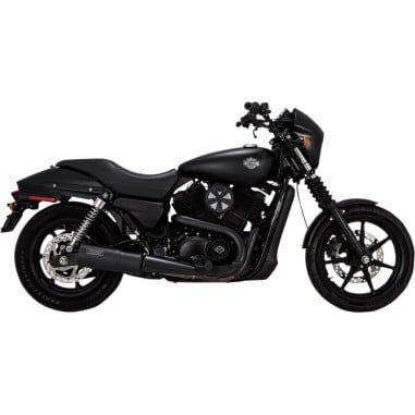 バンス&ハインズ HI-OUTPUT スリップオンマフラー ブラック 2015-19 XGストリート 500/750 1801-1233