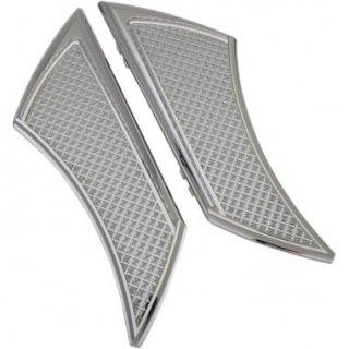 EDDIE TROTTAデザイン フロアボード ステルス ドライバー用 クローム 84-19ツーリング 1621-0839