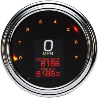 ダコタデジタル MLX-2000 ダイレクト プラグイン 4-1/2インチ径 スピード/タコメーター クローム 00-03ソフテイル/99-03ロードキング/99-03ダイナ 2210-0504