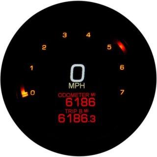 ダコタデジタル MLX-2000-K ダイレクト プラグイン 4-1/2インチ径 スピード/タコメーター ブラック 00-03ソフテイル/99-03ロードキング/99-03ダイナ 2210-0505