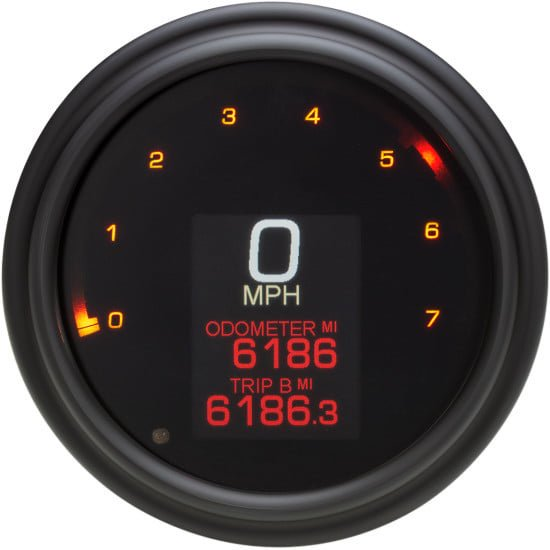 ダコタデジタル MLX-2011-K ダイレクト プラグイン 4-1/2インチ径 スピード/タコメーター ブラック 11-19ソフテイル/14-19ロードキング/12-17ダイナ 2210-0509