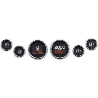 ダコタデジタル MLX-8696 ダイレクト プラグイン 6ゲージ クロームベゼル 99-03 ツーリングFLHT/ FLTR 2212-0747
