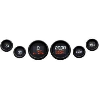 ダコタデジタル MLX-8696-K ダイレクト プラグイン 6ゲージ ブラックベゼル 99-03 ツーリングFLHT/ FLTR 2212-0748