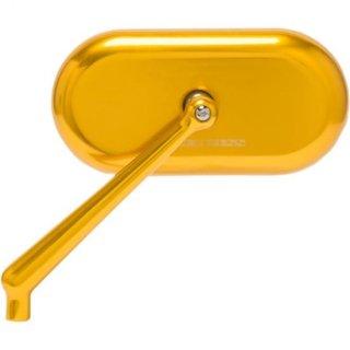 アレンネス スタンダードサイズ オーバルミラー ゴールドアノダイズ 左用 0640-1397