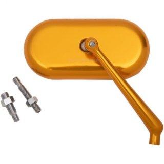アレンネス スタンダードサイズ オーバルミラー ゴールドアノダイズ 右用 0640-1400