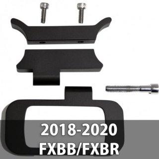 WILD 1 アジャスタブル ゲージリロケーション ブラケット サテンブラック 18-20 ソフテイル FXBB/FXBR 2212-0811