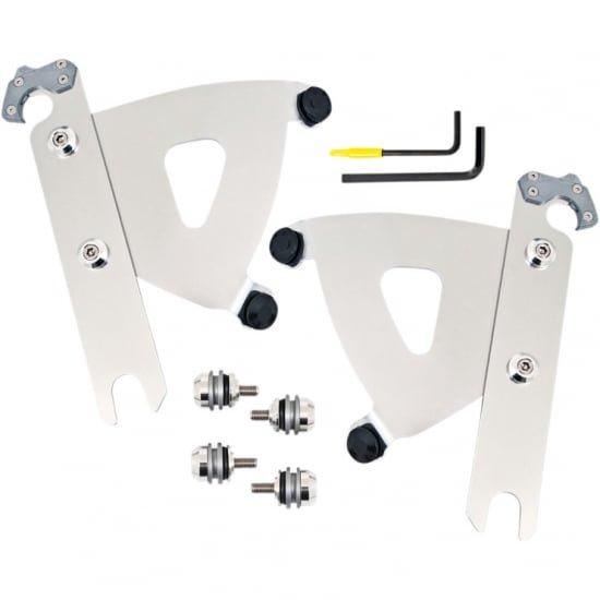 ロードウォーリアーフェアリング用 トリガーロックマウントハードウェア ポリッシュ 00-17 FL系のソフテイル用 2320-0260