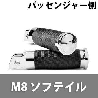パフォーマンスマシン Contour Rubber Wrapped フットペグ 2018-20ソフテイル パッセンジャー側 クローム 0035-1237M-CH