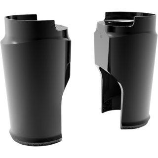 アレンネス ファットタイヤ フォークブーツカバー 18X5.5用 ブラックアノダイズ 2014-20 FLHT/ FLHX/ FLTRX/ FLTRU/ FLTRK 0411-0171