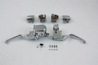 V-TWIN製 ハンドルバーコントロールキット クローム 07-13 スポーツスター シングルディスク車 22-0876
