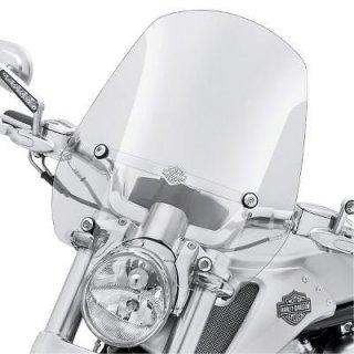 ハーレー純正 クイックリリース コンパクト ミッドスポーツ ウインドシールド 18インチ ライトスモーク 09-17 VRSCF 57610-09