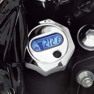 ハーレー純正 LCD油温計付オイルディップスティック クローム 06-17ダイナ 62974-09A