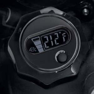 ハーレー純正 LCD油温計付オイルディップスティック ブラック 06-17ダイナ 63065-09A