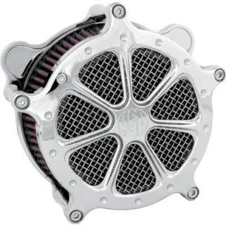 RSDスピード7エアクリーナー クローム CV/EFI 93-17ビッグツイン 93-17ビッグツイン 1010-0420
