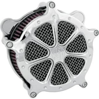 RSDスピード7エアクリーナー クローム 08-17ツインカムの電子スロットルモデル 1010-0422