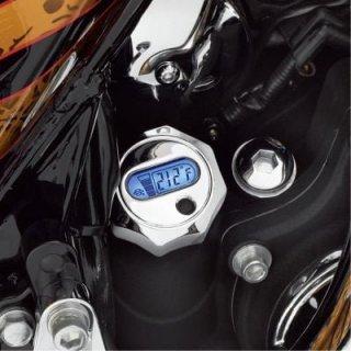 ハーレー純正 LCD油温計付オイルディップスティック クローム 07-16ツーリング 63004-09A