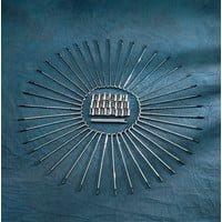 ドラッグ製 スポークセット クローム ナローグライドフォーク 21インチホイール用 0211-0121