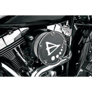 アレンネス BIG SUCKER ダービーカバー エアクリーナーキット ブラック 08-17ツインカムの電子スロットルモデル 1010-0633
