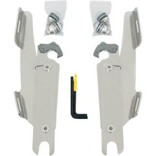FATS/SLIM/バッドウイング用 トリガーロックマウントハードウェア ポリッシュ 86-17 FLST ライトバーなし 2320-0089