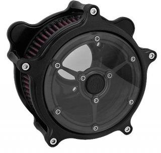 ローランドサンズ CLARITY エアクリーナー ブラック 08-17ツインカムの電子スロットルモデル 1010-1044