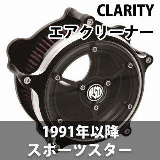 ローランドサンズ CLARITY エアクリーナー コントラストカット 1991-2020スポーツスター CV/EFI 1010-1046