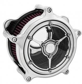 ローランドサンズ CLARITY エアクリーナー クローム 08-17ツインカムの電子スロットルモデル 1010-1042