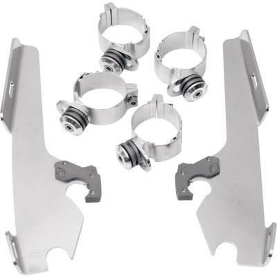 FATS/SLIM/バッドウイング用 トリガーロックマウントハードウェア ポリッシュ 06-17 FXDWG 13-17 FXSB/SE 2320-0031