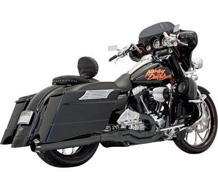 バッサニ ROAD RAGE II B1 マフラー ブラック/ブラックエンド 95-16 ツーリング 1800-1285